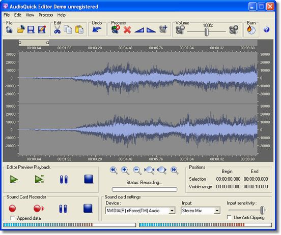Quick and easy audio edit record sound card convert audio burn CD/DVD disc affordable Screen Shot