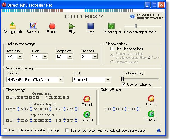 Click to view Direct MP3 Recorder Free 3.2 screenshot