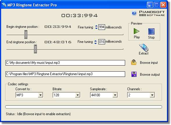 MP3 Ringtone Extractor 1.5