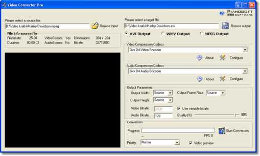 Click to view Free Video Converter 1.5 screenshot